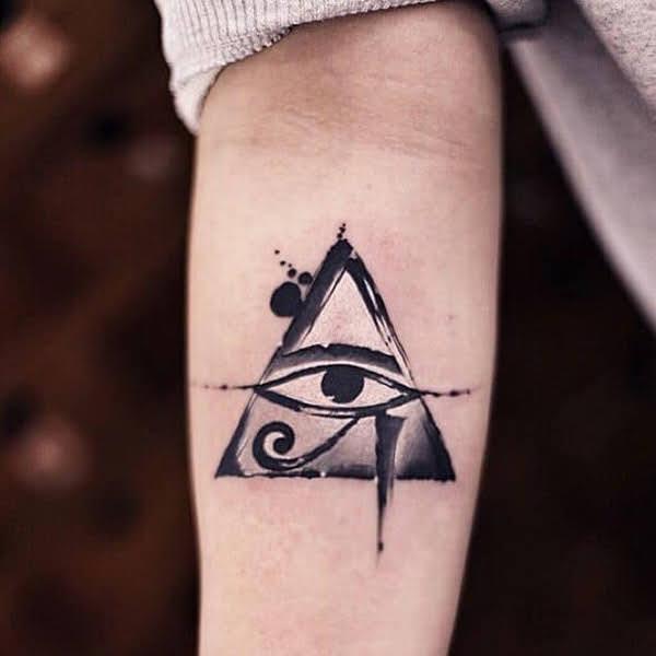 hình xăm mắt thần horus đẹp