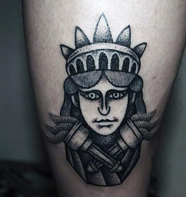 xăm hình nữ thần tự do đẹp
